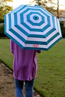 AQUA STRIPE UMBRELLA